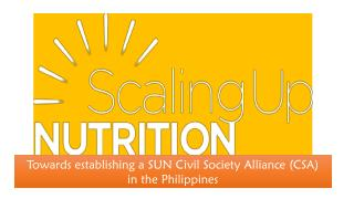 Towards establishing a SUN Civil Society Alliance (CSA)  in the Philippines