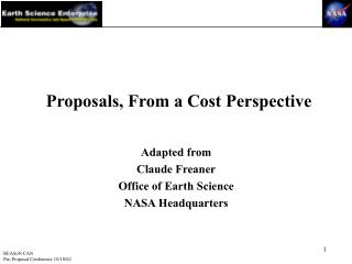 Proposals, From a Cost Perspective