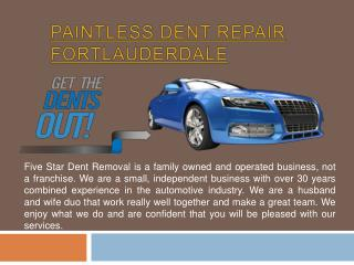 Paintless Dent Repair West Palm Beach