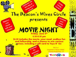 The Deacon's Wives Circle  presents MOVIE NIGHT