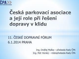 Česká parkovací asociace a její role při řešení dopravy v klidu