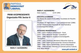 PRIM-VICEPRESEDINTE Organizatie PDL Sector 6