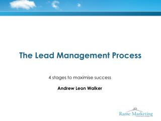 The Lead Management Process