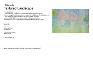Part One - Space foreground, middleground, background