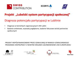 Diagnoza potencjału partycypacji w Lublinie