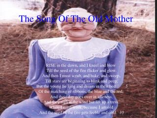 The Song Of The Old Mother