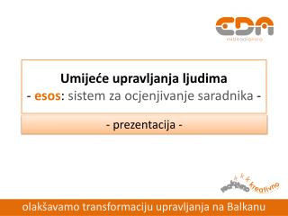Umijeće upravljanja ljudima -  esos :  sistem za ocjenjivanje saradnika  -