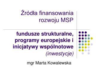 mgr Marta Kowalewska