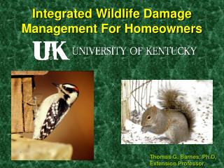 Integrated Wildlife Damage Management For Homeowners
