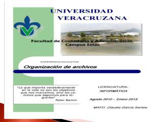 ORGANIZACIÓN INDEXADA ACCESO DIRECTO / SECUENCIAL