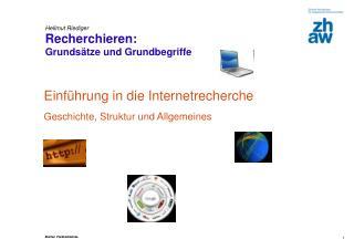 Hellmut Riediger Recherchieren:  Grundsätze und Grundbegriffe