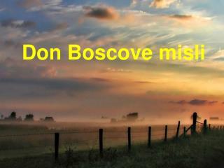 Don Boscove misli
