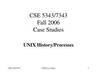 CSE 5343