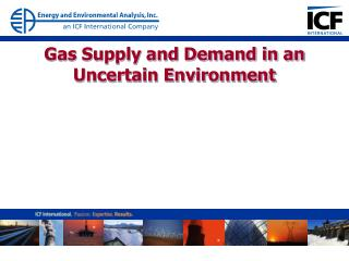 Gas Supply and Demand in an Uncertain Environment