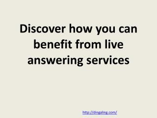 Live answering services