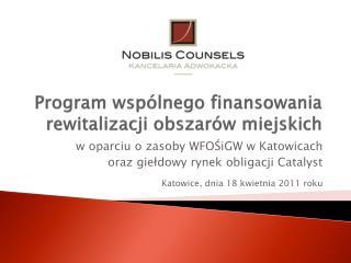 Program wspólnego finansowania rewitalizacji obszarów miejskich