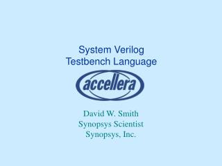 Sample SOC and Testbench