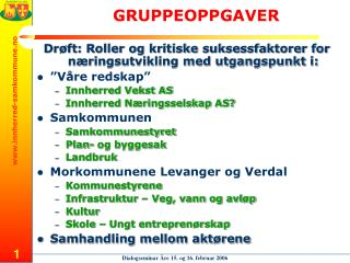 GRUPPEOPPGAVER