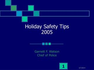 92210 1 Holiday Safety Tips