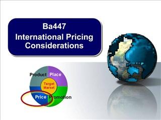 Ba447 International Pricing Considerations