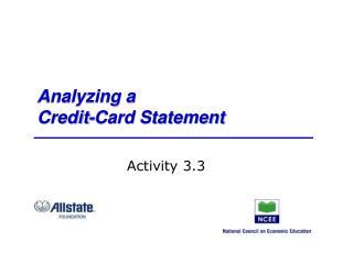 Analyzing a Credit-Card Statement