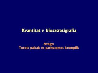 Kvantitatív biosztratigráfia