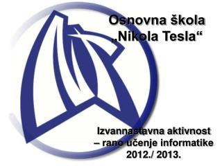 "Osnovna škola ""Nikola Tesla"""