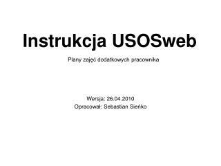 Instrukcja  USOSweb