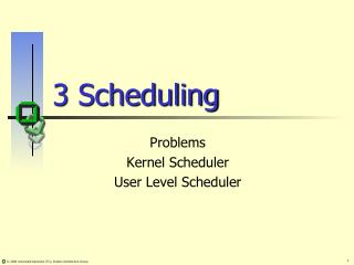 3 Scheduling