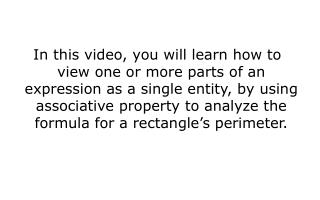 perimeter  – measurement of the distance around the outside of a polygon or a circle