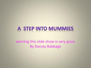 A  step into mummies