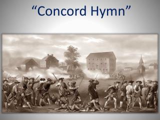 �Concord  Hymn�