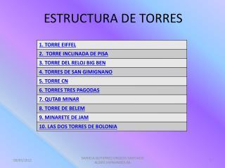 ESTRUCTURA DE TORRES