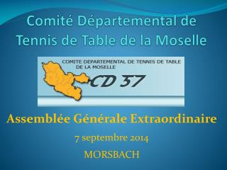 Comité Départemental de Tennis de Table de la Moselle