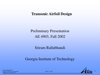 Transonic Airfoil Design