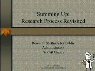 Summing Up: Research Process Revisited