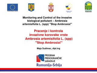 Pracenje i kontrola  invazivne korovske vrste  Ambrosia artemisifolia L. (spp)