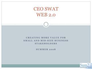 CEO SWAT WEB 2.0