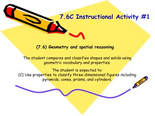 (7.6) Geometry and spatial reasoning