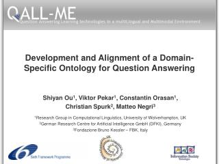 Development and Alignment of a Domain-Specific Ontology for Question Answering