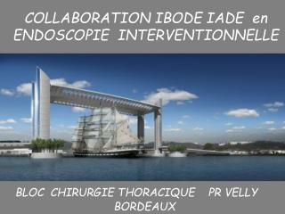 COLLABORATION IBODE IADE  en ENDOSCOPIE INTERVENTIONNELLE