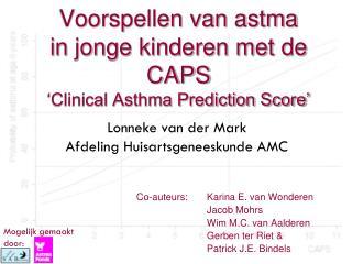 Voorspellen van astma  in jonge kinderen met de CAPS 'Clinical Asthma Prediction Score'