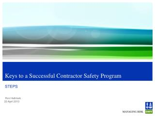 Keys to a Successful Contractor Safety Program