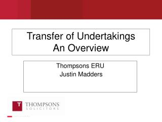 Transfer of Undertakings An Overview