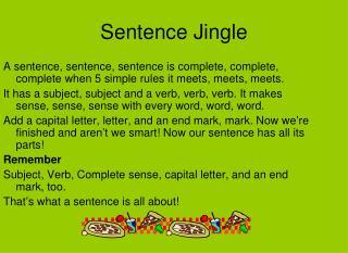 Sentence Jingle