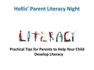 Hollis' Parent Literacy Night