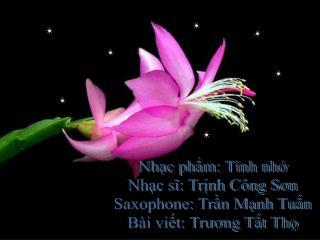 Nhạc phẩm: Tình nhớ Nhạc sĩ: Trịnh Công Sơn Saxophone: Trần Mạnh Tuấn Bài viết: Trương Tất Thọ