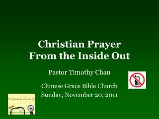 Christian Prayer  From the Inside Out