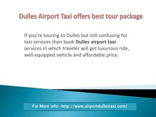 Airport Taxi Virginia Is Right Option While Touring For Long