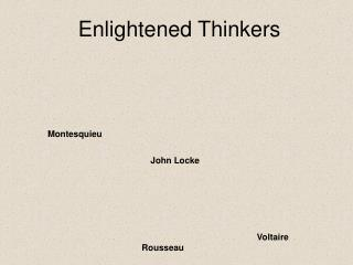 Enlightened Thinkers